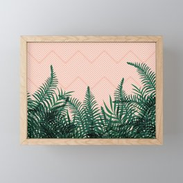 Tropical Ferns on Pink #society6 #decor #buyart Framed Mini Art Print