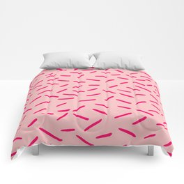 Pink Hundreds & Thousands Pattern Comforters