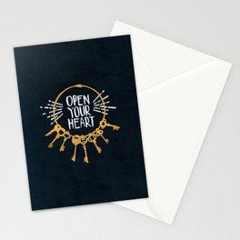 Open Heart - Dark Background Stationery Cards