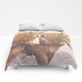 Draft Horses 2 Comforters