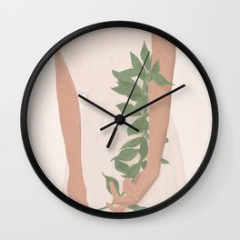 Holding on to a Branch Wall Clock
