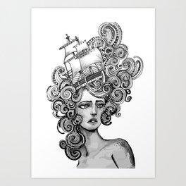 between the waves Art Print