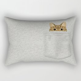 Pocket Tabby Cat Rectangular Pillow