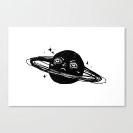 Graphic: sad planet Canvas Print