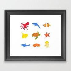 Sea Life! Framed Art Print