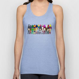Superhero Butts - Girls - Row Version - Superheroine Unisex Tank Top