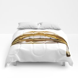 Golden Lips Comforters