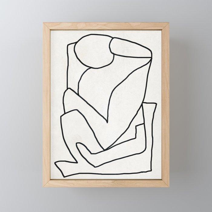Abstract line art 2 Framed Mini Art Print