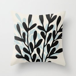 Still Life with Vase and Tree Branches Throw Pillow