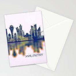 Nur-Sultan Skyline Stationery Cards