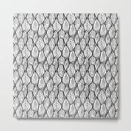 Vagina - Rama, White with grey Metal Print