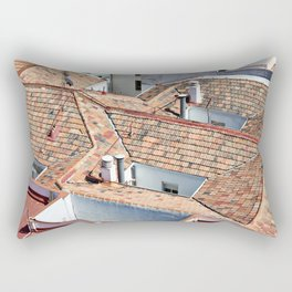 Old houses with tiled roofs Rectangular Pillow