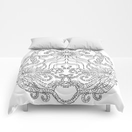 Octopus Mandala - Color Your Own  Comforters