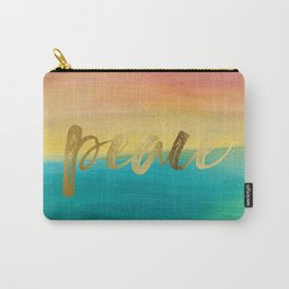 Peace, Ocean Sunset 3 Carry-All Pouch