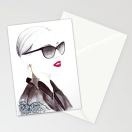 Watercolour Fashion Illustration Titled In Dior Zeli's Stationery Cards