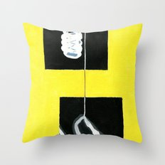 Yellow X-Ray Throw Pillow