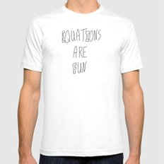 Equations Are Fun White SMALL Mens Fitted Tee