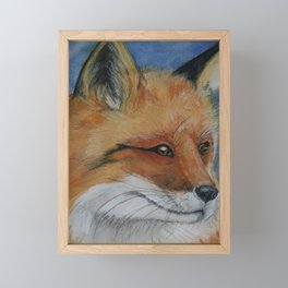 Handsome Red Fox Painting Framed Mini Art Print