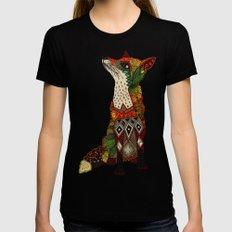 fox love juniper Black Womens Fitted Tee LARGE