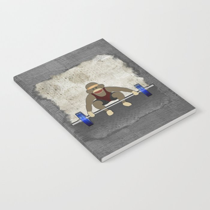 Sock Monkey Bodybuilder Notebook
