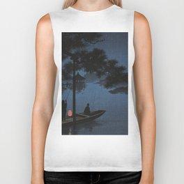 Boat with Lantern Beneath Shubi Pine Biker Tank