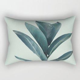 Teal Mint Plant Rectangular Pillow