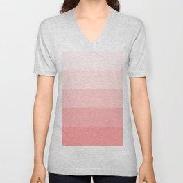 Pastel Paradise Pink Stripe Unisex V-Neck
