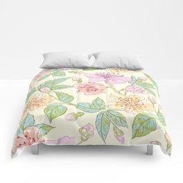 Colorful flowers Illustration Comforters