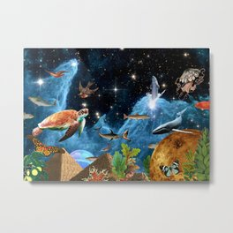 HEAVEN AND EARTH Metal Print