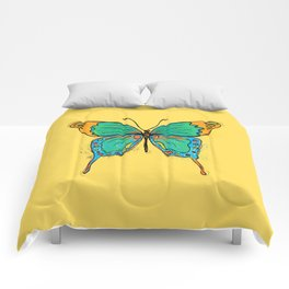 Simple Colorful Butterfly Comforters