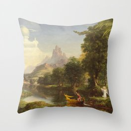 Thomas Cole The Voyage Of Life Youth 1842 Throw Pillow