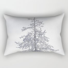 Yellowstone National Park - Ice Covered Tree Rectangular Pillow