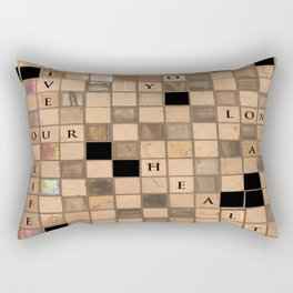 CROSSWORD LOVE Rectangular Pillow