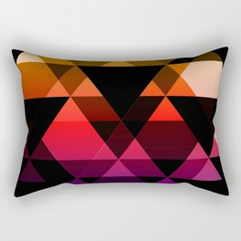 Bright Modern Trangles Rectangular Pillow