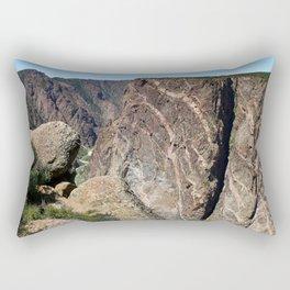 Painted Black Canyon of the Gunnison Walls Rectangular Pillow