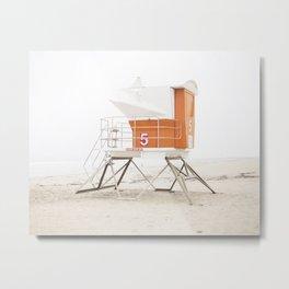 Orange Beach Tower Metal Print