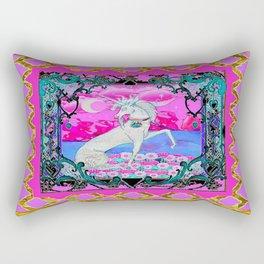Pink & Gold Unicorn Fantasy Abstract Design Rectangular Pillow