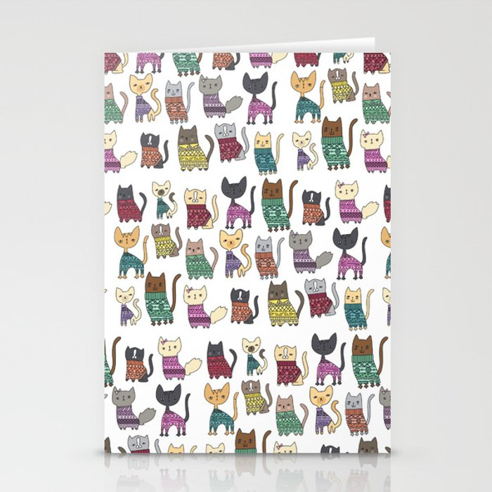 sweater cats Stationery Cards