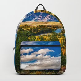 Snake River and Grand Tetons in Winter Backpack