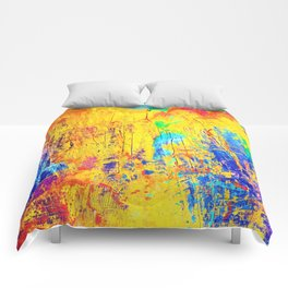 Imaginäre Landschaft - Ölgemälde auf Leinwand Comforters