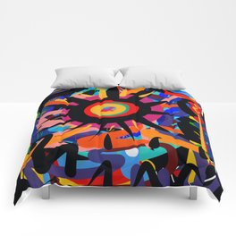 Black Sun is shining Abstract Art Street Graffiti Comforters