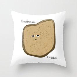 Wry Bread Throw Pillow
