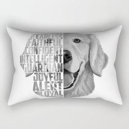 Golden Retriever PNG, Dog Print, Print for T shirt, Golden Retriever Gift, Subway Art, Golden Retrie Rectangular Pillow