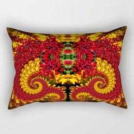 Dragon Flower Rectangular Pillow