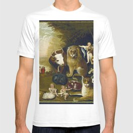 Classical Masterpiece 1833 'A Peaceable Kingdom' by Edward Hicks T-shirt