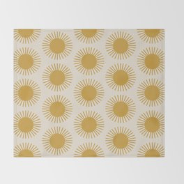 Golden Sun Pattern Throw Blanket