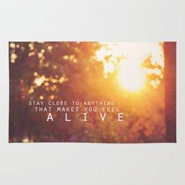 feel alive. Rug