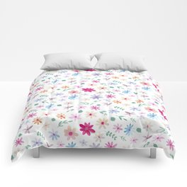 Spring Daisy Floral Pattern - Wrapping paper, notebook, bedding Comforters