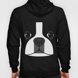 Boston Terrier Close Up Hoody