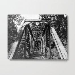 Forest Train Bridge Metal Print